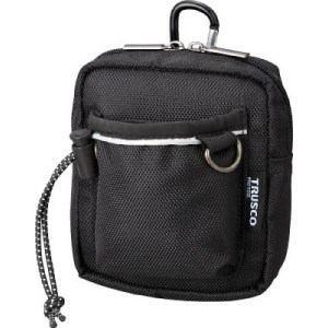 TRUSCO コンパクトツールケース ワイドポケット ブラック