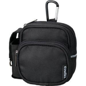 TRUSCO コンパクトツールケース ツーワイドポケット ブラック