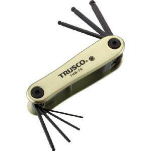 TRUSCO ボールポイント六角棒レンチセット ナイフ式