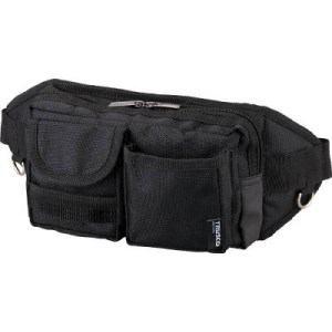 TRUSCO ウエストポーチ 2ポケット ブラック