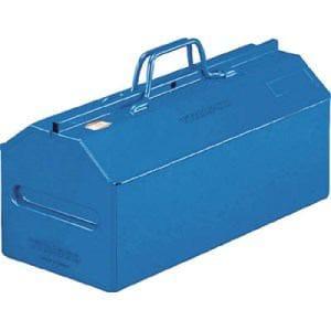 TRUSCO 山型中皿付工具箱 461X201X261 ブルー