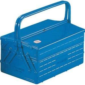 TRUSCO 2段式工具箱 352X220X289 ブルー
