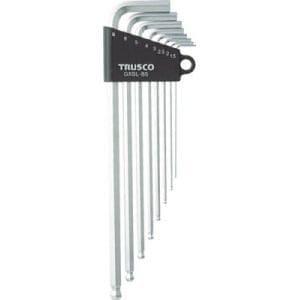 TRUSCO ロングボールポイント六角棒セット 8本組