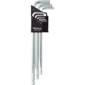 TRUSCO ロングボールポイント六角棒セット 9本組