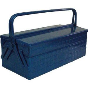 TRUSCO 2段式工具箱 472X220X289 ブルー
