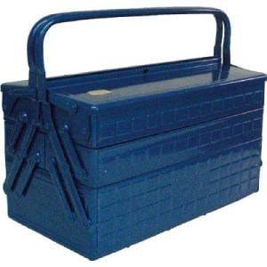 TRUSCO 3段式工具箱 412X220X343 ブルー