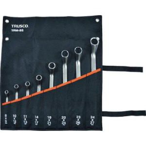 TRUSCO 45°両口めがねレンチセット(8本組)