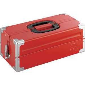 TONE ツールケース(メタル) V形2段式 433X220X160mm レッド