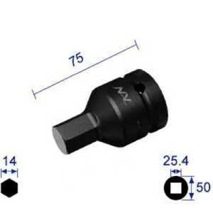 ナック ヘキサゴンレンチソケット 差込角25.4x対辺14mm