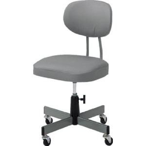 TRUSCO 事務椅子 ビニールレザー張り グレー