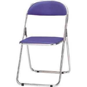 TOKIO パイプ椅子 シリンダ機能付 スチールパイプ 青