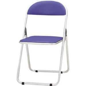 TOKIO パイプ椅子 シリンダ機能付 アルミパイプ ブルー