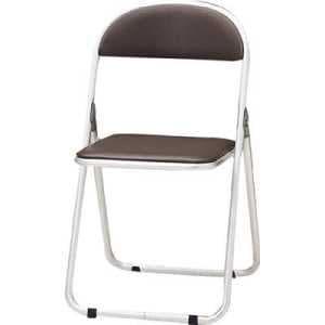 TOKIO パイプ椅子 シリンダ機能付 アルミパイプ ブラウン