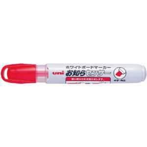 uni ボードマーカーPWB-120-5K 赤 中字角芯