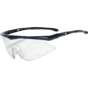TRUSCO 一眼型安全メガネ スポーツタイプ フレームブルー レンズクリア