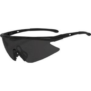 TRUSCO 一眼型安全メガネ スポーツタイプ フレームブラック レンズグレー