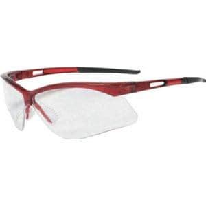 TRUSCO 二眼型セーフティグラス フレームレッド