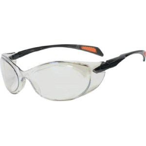 TRUSCO 二眼型セーフティグラス ゴーグルタイプ レンズシルバー