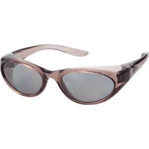 TRUSCO 二眼型偏光セーフティグラス グレー