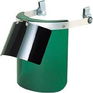 TRUSCO ヘルメット取付型防災面 グリーン ダブル型