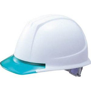 TRUSCO ヘルメット バイザー透明グリーン ホワイト