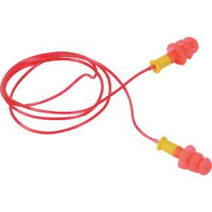 TRUSCO 耳栓 コード付 3段フランジタイプ 25dB
