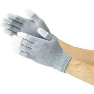 TRUSCO 指先コート静電気対策用手袋 Lサイズ