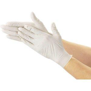 TRUSCO 使い捨て極薄手袋 100枚入 S ホワイト