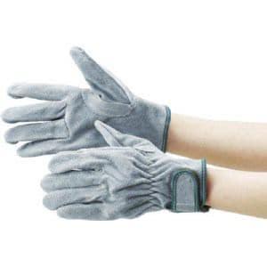 TRUSCO オイル加工革手袋 マジック式 フリーサイズ
