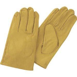 TRUSCO 袖なし革手袋 クレスト牛革製 フリーサイズ イエロー