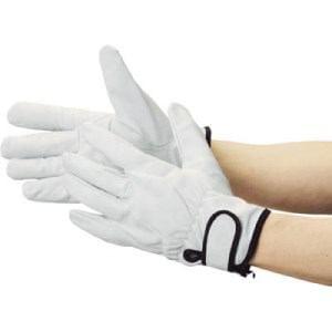 TRUSCO マジック式革手袋 裏地付タイプ Mサイズ