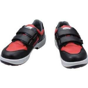 シモン安全靴 トリセオシリーズ 短靴 赤/黒 23.5
