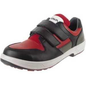 シモン 安全靴 トリセオシリーズ 短靴 赤/黒 25.0