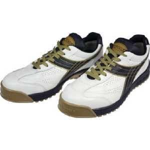 ディアドラ DIADORA 安全作業靴 ピーコック 白/黒 24.5cm