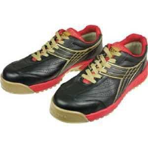 ディアドラ DIADORA 安全作業靴 ピーコック 黒 24.5cm