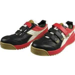 ディアドラ DIADORA 安全作業靴 ロビン 黒/白/赤 26.5cm