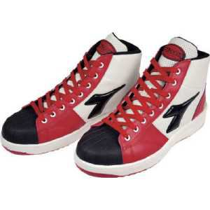ディアドラ DIADORA 安全作業靴 エミュー 赤/クロ 25.5cm