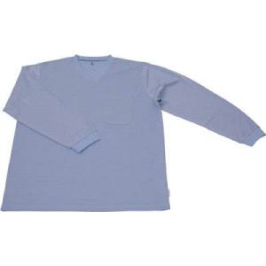 TRUSCO 保護服用インナー サラ感インナー 長袖シャツ Lサイズ