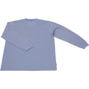 TRUSCO 保護服用インナー サラ感インナー 長袖シャツ Sサイズ