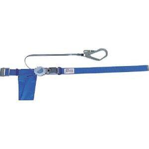 TRUSCO 巻取り式2WAY安全帯 1本つり専用 スチール製バックル 青