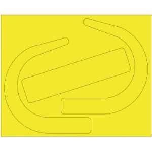 ユニット 安全帯使用確認ステッカー 大サイズ蛍光黄