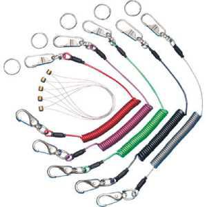 スーパー 安全ロープ(ステンレスワイ芯)ダイレクトキャッチフック付バイオレット