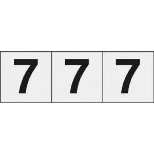 TRUSCO 数字ステッカー 50×50 「7」 透明 3枚入