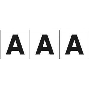 TRUSCO アルファベットステッカー 30×30 「A」 白 3枚入