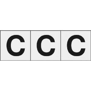 TRUSCO アルファベットステッカー 30×30 「C」 透明 3枚入