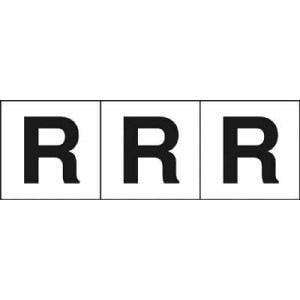 TRUSCO アルファベットステッカー 30×30 「R」 白 3枚入