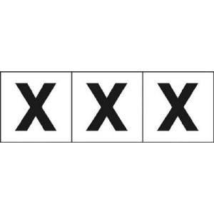 TRUSCO アルファベットステッカー 30×30 「X」 白 3枚入