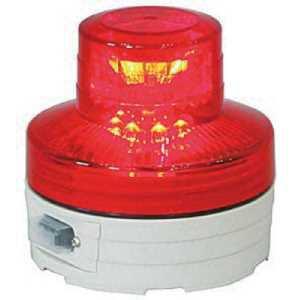 日動 電池式LED回転灯ニコUFO 夜間自動点灯タイプ 赤