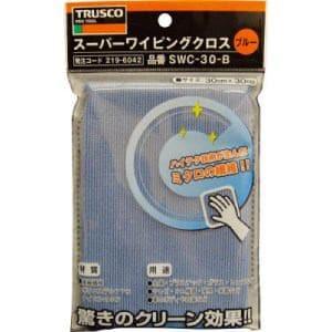 TRUSCO スーパーワイピングクロス 300mmX300mm 青