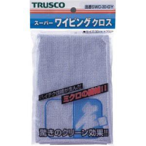 TRUSCO スーパーワイピングクロス 300mmX300mm グレー